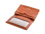Bosca Correspondent Full Gusset 2 Pocket Card Case with I.D. - Chestnut