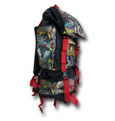 Marvel Comics Retro Camping Hiking Backpack Blk/Red Comic Book Print