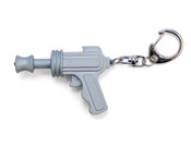 Kikkerland Light-Up Space Gun LED Keychain w/ Laser Sound