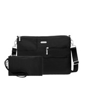 Baggallini Tablet iPad Crossbody Bag - Black
