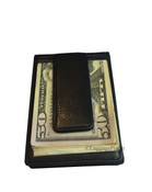 Osgoode Marley RFID Magnetic Bifold Money Clip Mens Leather Wallet