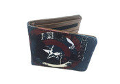 Marvel Comic Civil War Captain America Canvas Bifold Wallet