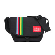 Manhattan Portage Rainbow Stripes Nylon Messenger Bag Jr Small