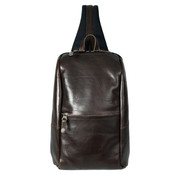 Harvest Label Leather Venue Sling Pack Tablet Bag - Brown