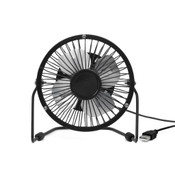 Kikkerland USB Powered Small Desk Fan - Black