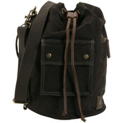 DamnDog Canvas & Leather Small Haul Bag - Tar Black
