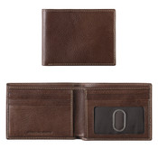 Johnston & Murphy Leather Slimfold Mens RFID Wallet - Brown