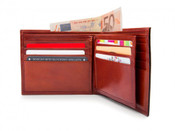 Bosca Old Leather Euro 8 Pocket Dlx Executive RFID Mens Wallet w/ Passcase