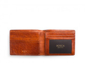 Bosca Dolce Leather Executive ID Bifold Mens RFID Blocking Wallet
