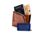 Bosca Dolce Leather Zip Around RFID Passport Travel Wallet