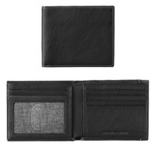 Johnston & Murphy RFID Super Slim Leather Mens Wallet Black