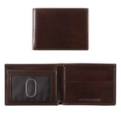 Johnston & Murphy Italian Leather RFID Super Slim Wallet - Brown