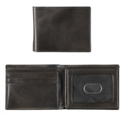 Johnston & Murphy Italian Leather RFID Flip Billfold Mens Wallet - Charcoal