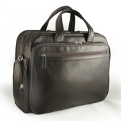 Osgoode Marley Cashmere Mens Leather Multi-Zip Briefcase