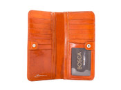 "Bosca Old Leather Womens 7"" Clutch Wallet"