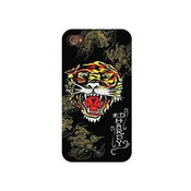 Ed Hardy iPhone 4, 4s Snap on protective case - Tiger with Dragons Tattoo Print