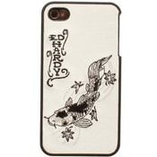 Ed Hardy Snap-On Back Cover for iPhone 4, 4S - Embroidered Koi print
