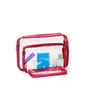Baggallini Travel Accessories Clear Trio Cosmetic Make up Bags