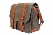 Bosca Correspondent Canvas 2 Pocket Mail Bag Messenger Bag
