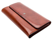 Bosca Womens Old Leather Framed Checkbook Clutch Wallet