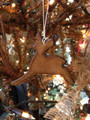 Leather Deer Silhouette Ornament - Handmade