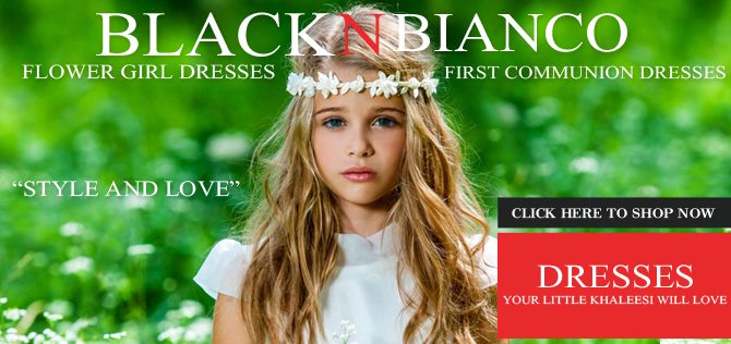 Flower Girl Dresses - Black N Bianco