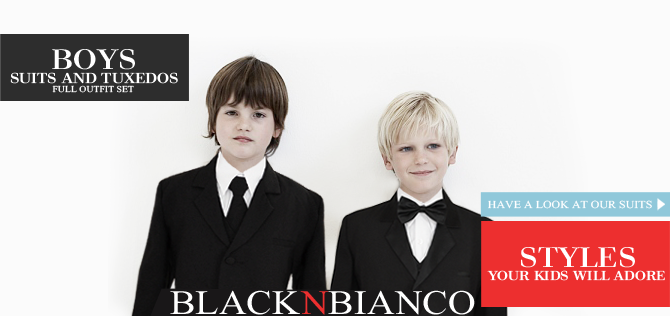 Boys Suit and Tuxedo BLACK N BIANCO