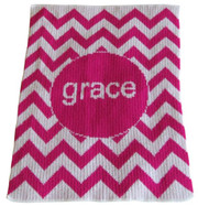 Personalized Stroller Blanket, Chevron