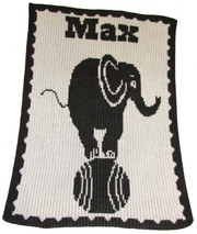 Personalized Stroller Blanket, Elephant on Ball
