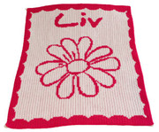 Personalized Blanket, Flower