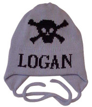 Personalized Hat, Skull and Crossbone