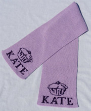 Personalized Scarf, Cupcake