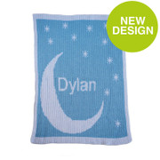 Personalized Stroller Blanket, Moon and Stars