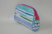 Personalized Cosmetic Case with Vinyl Outside