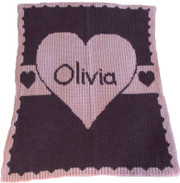 Personalized Stroller Blanket, 3 Hearts