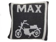 Personalized Pillow, Motorcycle