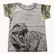 Bit'z Kids Dinosaur Tee with Camouflage Sleeves