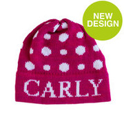 Personalized Hat, Polka Dots