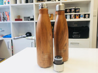Wooden Grain Design Thermal Drinking Flask