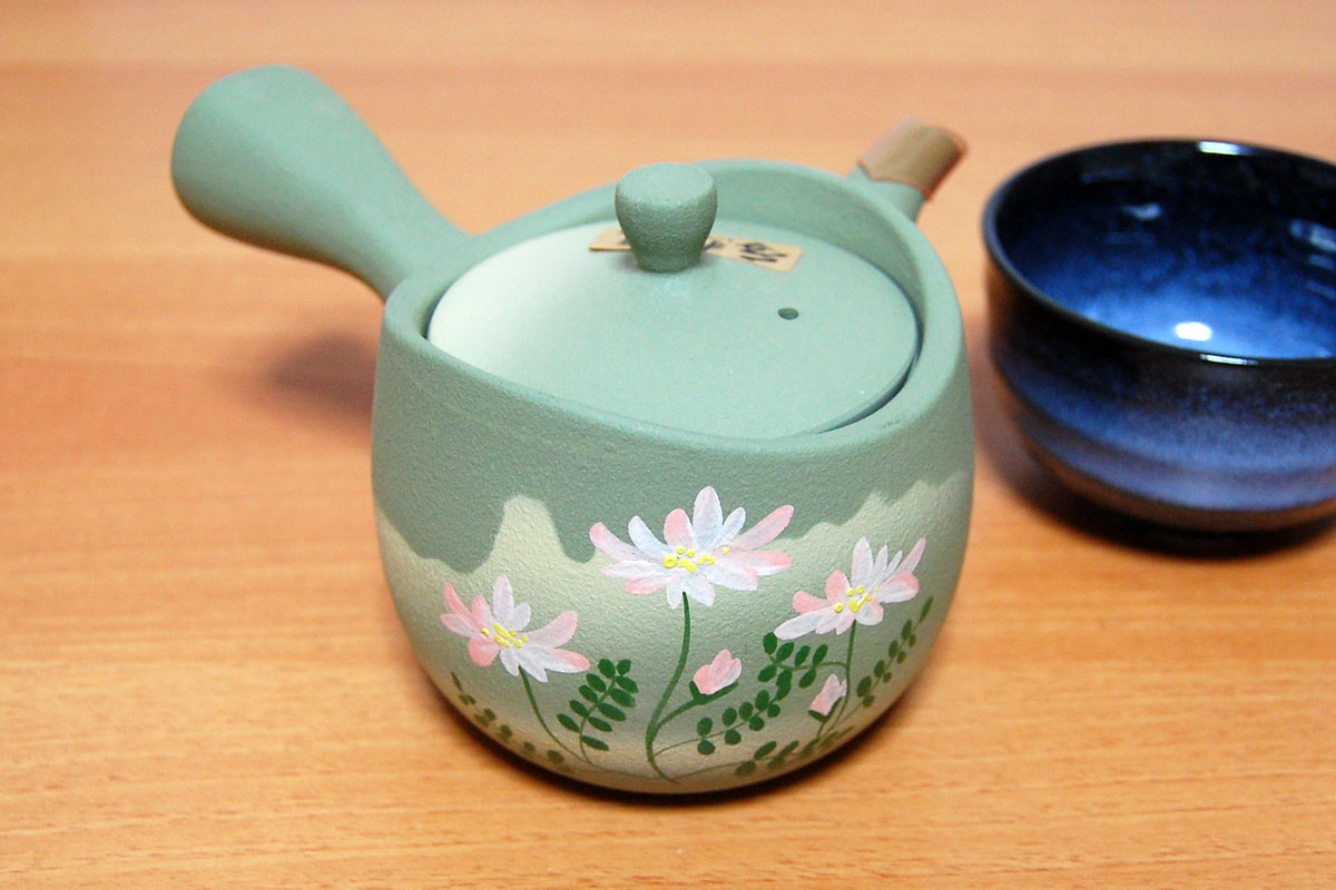 Fukamushi kyusu and big size tokoname kyusu japanese tea pot Green tea pot set