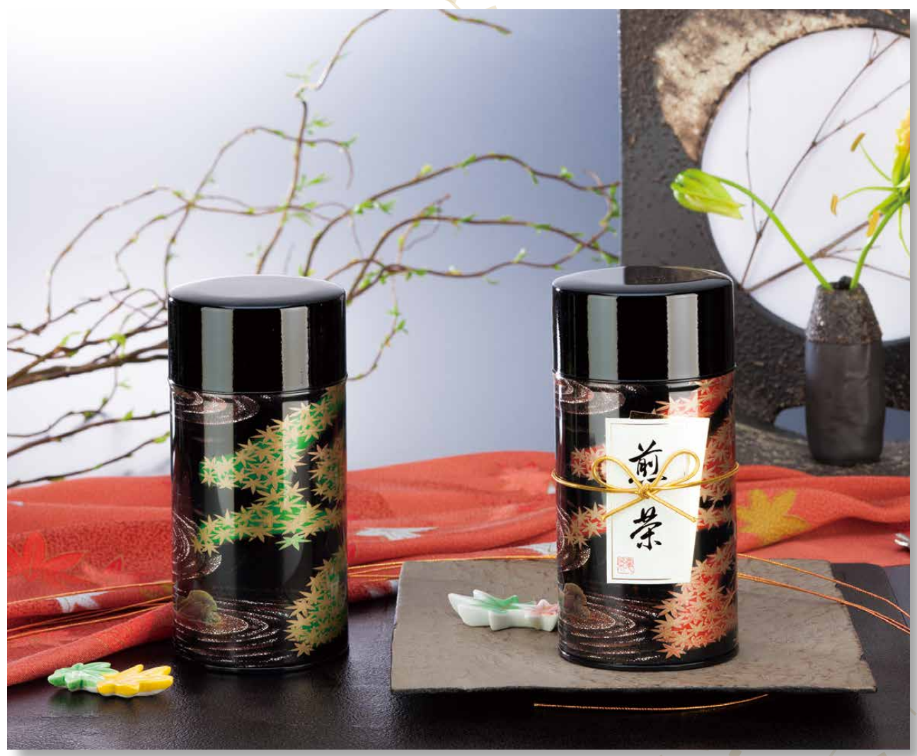 Ryu Mei Metal style tea canister for storing tea leaves, coffee, candies and others. Made in Japan.