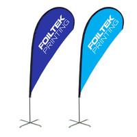 9FT Teardrop Flags 3oz Polyester Full Color