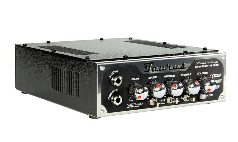 Taurus Amplification - Qube -450 - 450W RMS - Class D Ultra Light Bass Head