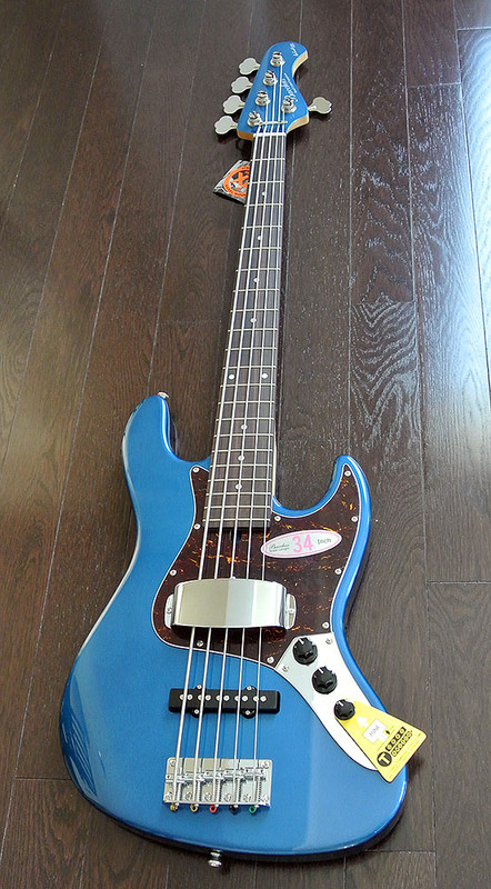 "Bacchus Global Series - WL-534 - 34"" Scale 5 String Bass"