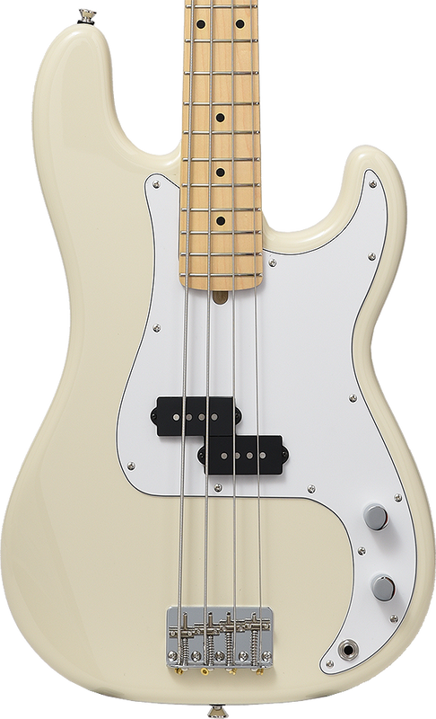 Bacchus Craft Japan Series - BPB-100EX - Limited Edition P-Bass - Olympic White with Maple Fingerboard