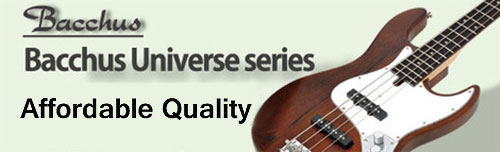 Bacchus universe guitars and basses