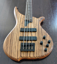 TUNE Hatsun TWB43 ZB - 4 String  Bass - Zebra Wood Top - Black Hardware