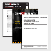 H Series Hydraulic CNC Press Brake Manual Bundle