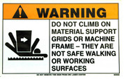 Safety Sign: Laser (Load Frame) - Warning (English)