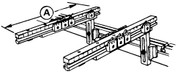 Heavy Duty Work Support Brackets with Double Dovetail Gage Arms